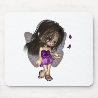 Toon Butterfly Fairy - Purple Mousepad