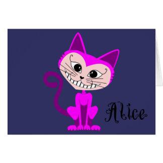 Toon Cheshire Cat - Alice in Wonderland Greeting Card