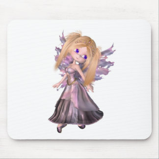 Toon Fairy Princess in Purple Dress Mouse Pad