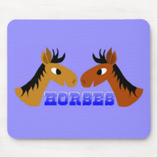 Toon horses mouse pad