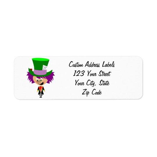 Toon Mad Hatter - Alice's Adventures in Wonderland Return Address Label