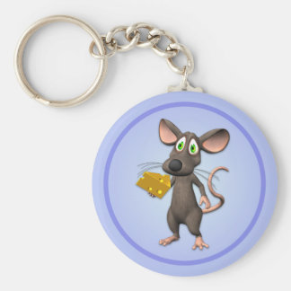Toon Mouse With Cheese Keychain