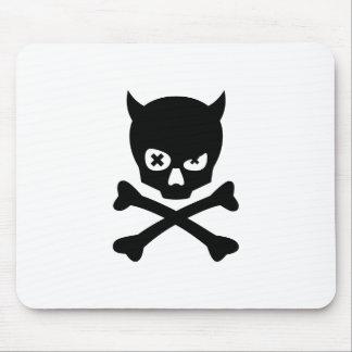 toon skull mouse pad