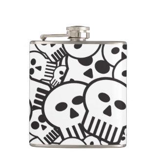 toon skulls hip flask
