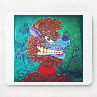 Toon Wolf Mouse Pad