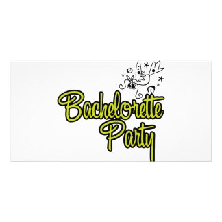 ToonDoveBachelorettePartyYlw Custom Photo Card