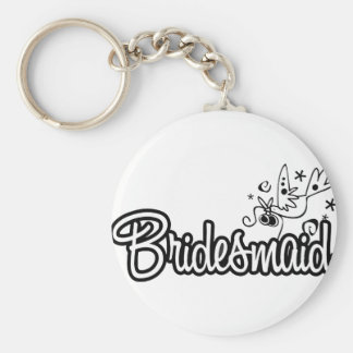 ToonDoveBridesmaidWht Key Ring