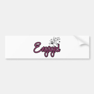 ToonDoveEngagedPink Bumper Sticker