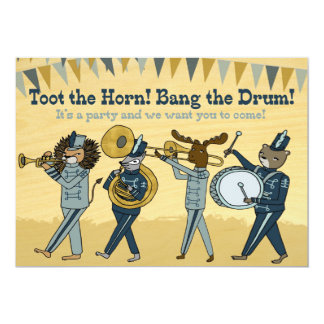 Toot the Horn - Marching Band Birthday Invite