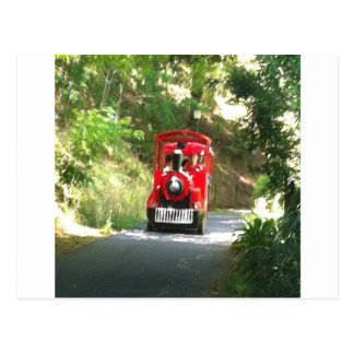 Toot Toot the Red train is coming Toot Toot Postcard