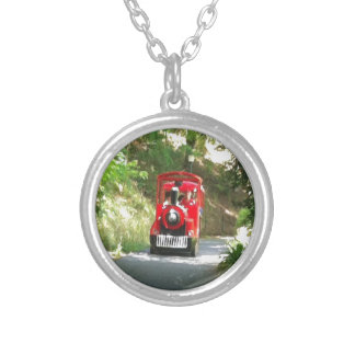 Toot Toot the Red train is coming Toot Toot Silver Plated Necklace