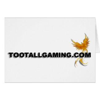 Tootallgaming com greeting card