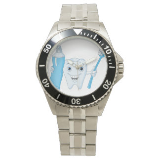 Tooth And Toothbrush Watch