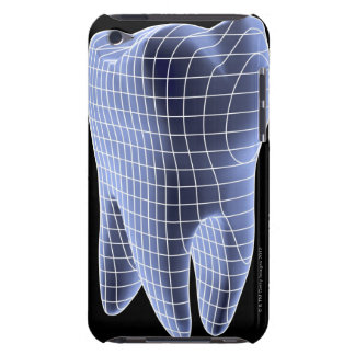 Tooth, computer artwork of a molar tooth iPod touch cases