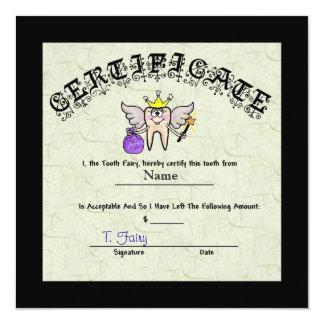Tooth Fairy Certificate   Customize It! 13 Cm X 13 Cm Square Invitation Card