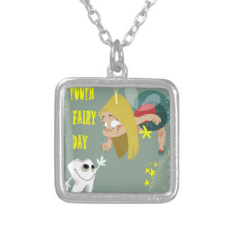 Tooth Fairy Day - Appreciation Day Silver Plated Necklace