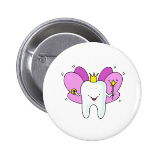 Tooth fairy princess congratulations. 6 cm round badge