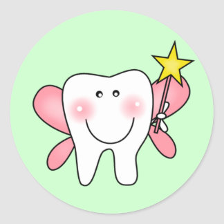 Tooth Fairy Tshirts and Gifts Round Sticker