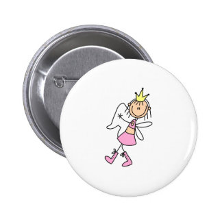 Tooth Fairy With Her Hands Full Button