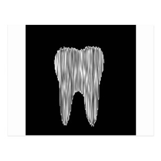 Tooth graphic for dentist postcard