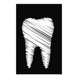 Tooth graphic for dentist personalised stationery