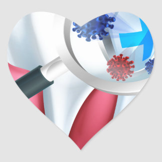 Tooth Protection Shield Heart Sticker