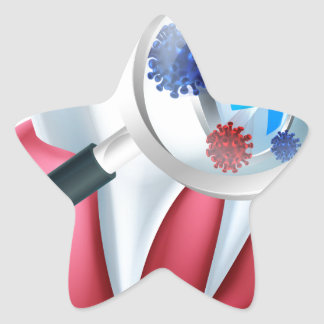 Tooth Protection Shield Star Sticker