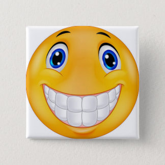 tooth smile 15 cm square badge