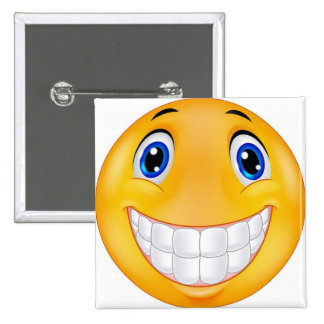 tooth smile 15 cm square badge
