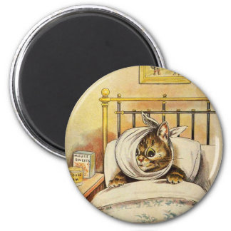 Toothache Kitty Artwork by Louis Wain Magnet