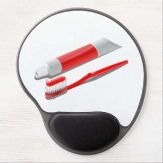 Toothbrush And Toothpaste Gel Mouse Pad