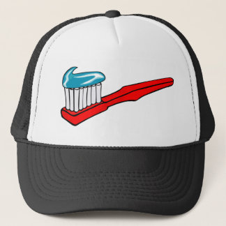 Toothbrush and Toothpaste Trucker Hat