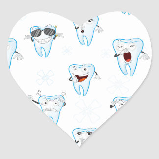 tooths heart sticker