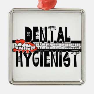 TOOTHY DENTAL HYGIENIST LOGO METAL ORNAMENT