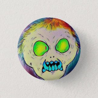Toothy Ghoul 3 Cm Round Badge