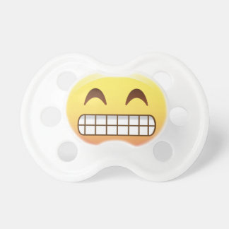 Toothy Grin Emoji Face Smile Baby Pacifier