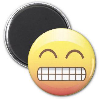 Toothy Smile Yellow Emoji Magnet