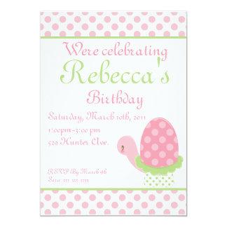 Tootsie Turtle Birthday Invitation-1 Card