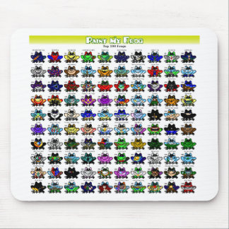 Top 100 Frogs  Mousepad