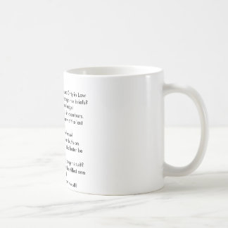 Top 10 things That Sound Dirty in Law 10 Basic White Mug