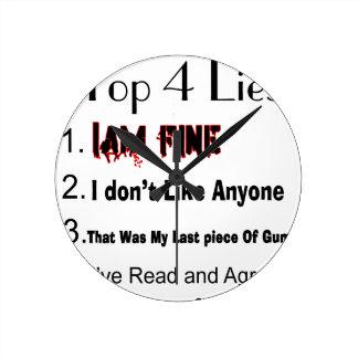 Top 4 Lies Round Clock