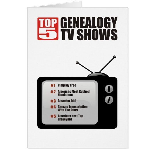 Top 5 Genealogy TV Shows Birthday Card