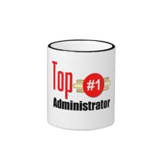 Top Administrator Ringer Coffee Mug