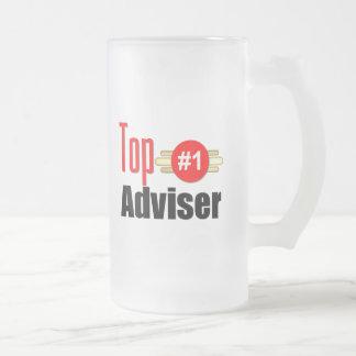 Top Adviser Frosted Glass Mug