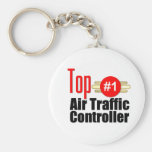 Top Air Traffic Controller Basic Round Button Key Ring