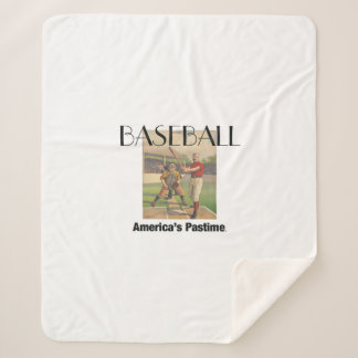 TOP America's Pastime Sherpa Blanket