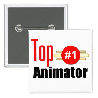 Top Animator Pinback Button