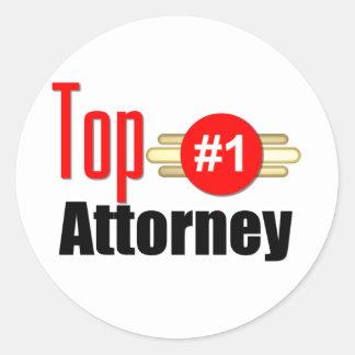 Top Attorney Round Sticker