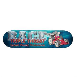 TOP Auto Race Triple Threat Skate Board Deck