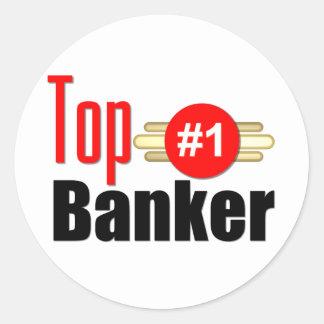 Top Banker Round Sticker